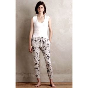 Anthropologie Saturday and Sunday floral sweatpant